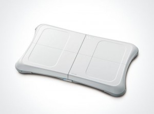 The balance board for the Wii Fit
